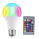 baratos Bem Estar em Viagens-HRY 1pç 5 W Lâmpada de LED Inteligente 200-500 lm E26 / E27 A60(A19) 3 Contas LED SMD 5050 Regulável Controle Remoto Decorativa RGBW 85-265 V / 1 pç / RoHs