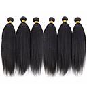 povoljno Ekstenzije od prave kose prirodne boje-6 paketića Brazilska kosa Kinky Ravno Ljudska kosa Ljudske kose plete Bundle kose Jedan Pack Solution 8-28 inch Natural Prirodna boja Isprepliće ljudske kose Svilenkast Smooth proširenje Proširenja