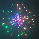 baratos Bem Estar em Viagens-HKV 0,2 m Cordões de Luzes 120 LEDs SMD 0603 1 13 teclas de controle remoto Branco Quente / RGB + quente Impermeável / Festa / Decorativa Baterias AA alimentadas 1conjunto