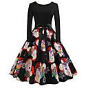 olcso Letűnt korok ruhái-Audrey Hepburn Retró Ruhák Női Spandex Jelmez Fekete Régies (Vintage) Cosplay Karácsony