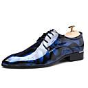 baratos Oxfords Masculinos-Homens Impressão Oxfords Couro Envernizado Outono Casual / Formais Oxfords Não escorregar Vinho / Azul / Marron / Sapatos Confortáveis