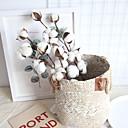Χαμηλού Κόστους Τεχνητά φυτά-Ψεύτικα λουλούδια 1 Κλαδί Κλασσικό Rustic Ποιμενικό Στυλ Αιώνια Λουλούδια Λουλούδι για Τραπέζι