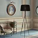 baratos Luminárias de Teto-Tripé lâmpada de assoalho contemporânea moderna luzes de metal pano sombra leitura luz de pé para sala de estar quarto corredor escritório branco preto vermelho