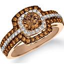 Χαμηλού Κόστους Μοδάτο Δαχτυλίδι-Γυναικεία Δαχτυλίδι Citrine 1pc Ανοικτό Καφέ Χαλκός Στρας Κυκλικό Geometric Shape κυρίες Στυλάτο Πολυτέλεια Γάμου Δώρο Κοσμήματα Πολυεπίπεδο Στρόγγυλα HALO