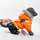 billiga Hundkläder-Hund Kappor Huvtröjor Vinter Hundkläder Orange Gul Röd Kostym Cotton Färgblock Håller värmen Vindtät Sport XS S M L XL XXL