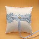 povoljno Jastuk za prstenje-Čipka Faux Pearl Tekstil ring pillow Monogram / Vjenčanje Sva doba