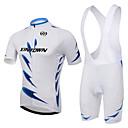 Χαμηλού Κόστους T-shirt Πεζοπορίας-XINTOWN Ανδρικά Γυναικεία Κοντομάνικο Αθλητική φανέλα και σορτς ποδηλασίας Λευκό Ποδήλατο Σορτσάκι με τιράντες Αθλητική μπλούζα Ρούχα σύνολα Αναπνέει 3D Pad Γρήγορο Στέγνωμα Υπεριώδης Αντίσταση Anti