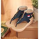 ราคาถูก ชุดออกกำลังกายและชุดโยคะ-สำหรับผู้หญิง รองเท้าแตะ ส้นแบน กางเกงยีนส์ ฤดูร้อน สีฟ้า / ฟ้า