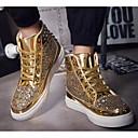 baratos Tênis Masculino-Homens Sapatos Confortáveis Sintéticos Primavera & Outono Tênis Preto / Dourado / Prata
