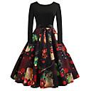 olcso Letűnt korok ruhái-Audrey Hepburn Retró Ruhák Női Spandex Jelmez Fekete Régies (Vintage) Cosplay