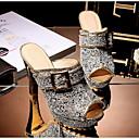 ราคาถูก รองเท้าแตะผู้หญิง-สำหรับผู้หญิง รองเท้าแตะ ส้นหนา Synthetics ฤดูร้อน สีดำ / ขาว / สีเหลือง