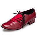 Χαμηλού Κόστους Ημέρα επιστροφής στο σπίτι-Ανδρικά Μοντέρνα παπούτσια / Αίθουσα χορού Λουστρίν Αθλητικά Κόψιμο Πυκνό τακούνι Παπούτσια Χορού Σκούρο κόκκινο