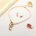povoljno Komplet nakita-Žene Izjava Ogrlice Naušnica Klasičan Korejski Naušnice Jewelry Zlato Za Dar Festival 1set