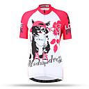 ราคาถูก ของเล่นแม่เหล็ก-XINTOWN สำหรับผู้หญิง แขนสั้น Cycling Jersey แดง / ขาว Cat ขนาดพิเศษ จักรยาน Tops ขี่จักรยานปีนเขา Road Cycling ระบายอากาศ แห้งเร็ว กระเป๋าหลัง กีฬา Terylene เสื้อผ้าถัก / ยืด / Sweat-wicking