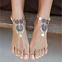 billiga Modehalsband-Dam Barfotasandaler fötter smycken Totemserier damer Enkel Grundläggande Ankelkedja Smycken Silver Till Gåva Ceremoni