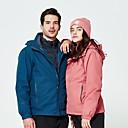 ราคาถูก ชุดกันลม,เสื้อขนแกะ,แจ็กเก็ตสำหรับปีนเขา-สำหรับผู้หญิง Hiking Down Jacket แจ็คเก็ต 3 ใน 1 เดียว กลางแจ้ง ฤดูใบไม้ร่วง ฤดูใบไม้ผลิ กันน้ำ รักษาให้อุ่น กันลม ทน UV แจ็คเก็ตฤดูหนาว Single Slider Skiing / แห้งเร็ว / แห้งเร็ว