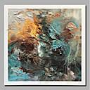 billige Abstrakte malerier-Hang malte oljemaleri Håndmalte - Abstrakt Landskap Moderne Inkluder indre ramme / Valset lerret / Stretched Canvas