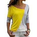 billiga iPhone-fodral-Färgblock T-shirt Dam Ledig Gul