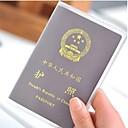 baratos Armazenamento e Organização-2 pc moagem tampa do passaporte transparente à prova d 'água pvc titulares de cartão de identificação passaportes saco de manga protetora