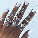 Χαμηλού Κόστους Μοδάτα Σκουλαρίκια-Γυναικεία Δαχτυλίδι δάχτυλο νυχιών Δαχτυλίδι για τη μέση των δαχτύλων Midi Ring Κρυστάλλινο 13pcs Ασημί Κράμα Geometric Shape Μοντέρνο κυρίες Unusual Βραδινό Πάρτυ Μασκάρεμα Κοσμήματα
