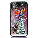 cheap iPhone Cases-Case For Apple iPhone XS / iPhone X / iPhone 8 Plus Flowing Liquid / Transparent / Pattern Back Cover Christmas Soft TPU