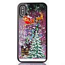 رخيصةأون أغطية أيفون-غطاء من أجل Apple iPhone XS / iPhone X / iPhone 8 Plus سائل متدفق / شفاف / نموذج غطاء خلفي عيد الميلاد ناعم TPU