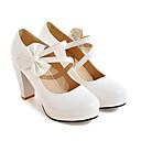 ราคาถูก รองเท้าแตะผู้หญิง-สำหรับผู้หญิง รองเท้าส้นสูง แน๊บป้า Leather / หนังสิทธิบัตร ฤดูใบไม้ผลิ รองเท้าส้นสูง ส้น Stiletto ขาว / สีดำ / แดง / ทุกวัน