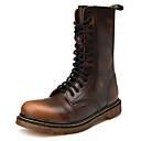 ราคาถูก รองเท้าบูตผู้ชาย-สำหรับผู้ชาย Fashion Boots หนัง ฤดูหนาว ไม่เป็นทางการ / อังกฤษ บูท รักษาให้อุ่น บู้ทสูงระดับกลาง สีดำ / สีน้ำตาล / ไวน์ / กลางแจ้ง / รองเท้าคอมแบท