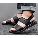 Χαμηλού Κόστους Αντρικά Πέδιλα-Ανδρικά Παπούτσια άνεσης Νάπα Leather Καλοκαίρι Σανδάλια Μαύρο