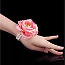 povoljno Praktični poklončići-Cvijeće za vjenčanje Wrist Corsage Vjenčanje / Svadba Perle / Volovska koža / Platno 0-10 cm