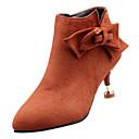 Χαμηλού Κόστους Κοσμήματα Μαλλιών-Γυναικεία Μπότες Fashion Boots Γατίσιο Τακούνι Φιόγκος PU Μποτίνια Καθημερινό Φθινόπωρο Μαύρο / Πορτοκαλί / Βυσσινί