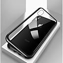 billige iPhone-etuier-Etui Til Apple iPhone X / iPhone 8 Plus / iPhone 8 Støtsikker / Gjennomsiktig / Magnetisk Heldekkende etui Ensfarget Hard Herdet glass / Metall