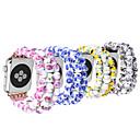 billige Taklamper-Keramisk perlebånd for Apple Watch Series Smart Watch Series 4/3/2/1 Håndleddet Band Iwatch