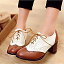 ราคาถูก รองเท้าแตะ & Flip-Flops ผู้หญิง-สำหรับผู้หญิง รองเท้า Oxfords Block Heel PU ฤดูร้อน สีดำ / สีน้ำตาล / ทุกวัน