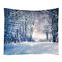 billige Wall Tapestries-Jul / Familie Veggdekor 100% Polyester Moderne Veggkunst, Veggtepper Dekorasjon