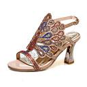 ราคาถูก รองเท้าส้นสูงผู้หญิง-สำหรับผู้หญิง รองเท้าแตะ ส้น Stiletto Synthetics ฤดูร้อน Almond / สีเขียว / ฟ้า