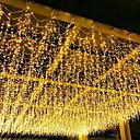 billige Dørpanel gardiner-4m Lysslynger 96 LED Varm hvit Jul / Dekorativ 220-240 V 1set