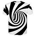 Χαμηλού Κόστους Μοτοσυκλέτα & Εξαρτήματα ATV-Ανδρικά T-shirt Κλαμπ Βασικό / Κομψό στυλ street Ριγέ / 3D Στρογγυλή Λαιμόκοψη Στάμπα Ασπρόμαυρο Λευκό / Κοντομάνικο / Καλοκαίρι