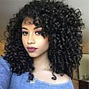 ราคาถูก วิกผมจริง-ผม Remy เต็มไปด้วยลูกไม้ มีลูกไม้ด้านหน้า วิก อสมมาตรตัดผม Rihanna สไตล์ ผมบราซิล Afro Kinky Kinky Curly ดำ วิก 130% 150% 180% Hair Density ผมเด็ก สามารถปรับได้ การแต่งกายที่ง่าย ลดกระหน่ำ การดัดผม
