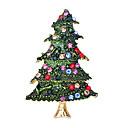 billiga Modebroscher-Dam Kubisk Zirkoniumoxid Broscher Klassisk Tomtekostymer Julgran Klassisk Tecknat söt stil Brosch Smycken Grön Till Jul Dagligen