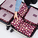ราคาถูก กระเป๋าถือ-6 ชุด ผู้จัดการท่องเที่ยว / Packing Organizer Large Capacity / กันน้ำ / Portable ลายดอกไม้ BRAS / Vêtements ไนลอน เดินทาง / ทนทาน