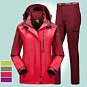 povoljno Skijaška i snowboard odjeća-Žene Planinarska jakna s hlačama Vanjski Pasti Zima Vjetronepropusnost Otporno na kišu Anatomski dizajn Otpornost na habanje Zimska jakna Cijeli Duljina Hidden Zipper Skijanje Penjanje Kampiranje