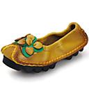 ราคาถูก รองเท้าแตะ & Loafersสำหรับผู้ชาย-สำหรับผู้หญิง รองเท้าส้นเตี้ย รองเท้าหนัง ส้นแบน แน๊บป้า Leather ไม่เป็นทางการ / minimalism ฤดูใบไม้ผลิ & ฤดูใบไม้ร่วง ไวน์ / สีเหลือง