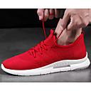 ราคาถูก รองเท้ากีฬาสำหรับผู้ชาย-สำหรับผู้ชาย รองเท้าสบาย ๆ ตารางไขว้ ฤดูร้อน รองเท้ากีฬา สำหรับวิ่ง ขาว / สีดำ / แดง