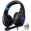 billige Gaming-KOTION EACH G4000 Gaming Headset Med ledning Gaming Med mikrofon Med volumkontroll