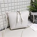 Χαμηλού Κόστους Τσάντες χιαστί-Γυναικεία PU Τσάντα ώμου Συμπαγές Χρώμα Μαύρο / Καφέ / Κρασί