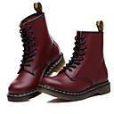 povoljno Muške čizme-Muškarci Kožne cipele Umjetno krzno Proljeće / Jesen Ležerne prilike Čizme Hodanje Ugrijati Čizme do pola lista Crn / Braon / Lila-roza