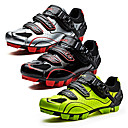 cheap Cycling Shoes-SANTIC Mountain Bike Shoes Nylon Breathable Anti-Slip Ultra Light (UL) Cycling Black / White Black / Red fluorescent green Men's Cycling Shoes / Breathable Mesh / Hook and Loop