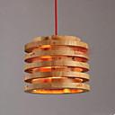 billige Island Lights-Drum Anheng Lys Omgivelseslys Tre Tre / Bambus Tre / Bambus Nytt Design 110-120V / 220-240V Pære ikke Inkludert / E26 / E27