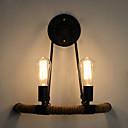 povoljno Ukrasi na tijelu-Retro / vintage Spavaća soba / Magazien / Cafenele Konoplja konop zidna svjetiljka 110-120V / 220-240V